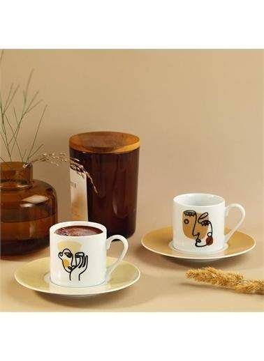 Kütahya Porselen Kütahya Porselen Rüya 2'li Kahve Fincan Takımı 11369 Renkli